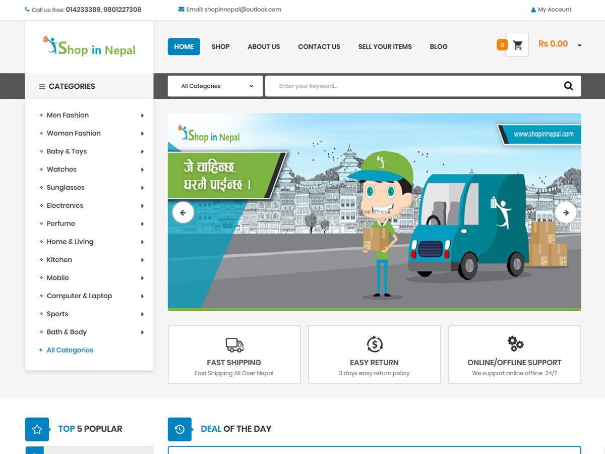 Online shop in nepal